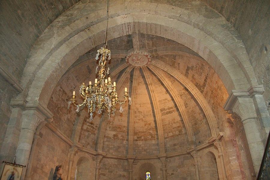 Paulhan (Hérault) - Église romane Notre-Dame des Vertus - voûte en cul-de-four de l'abside