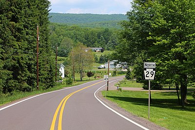 PA 29 in Lake Township Pennsylvania Route 29 north in Lake Township, Luzerne County, Pennsylvania.JPG
