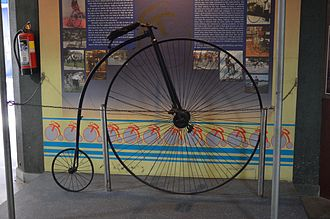 National Science Centre, Delhi - The Penny-farthing was gifted by the then Prime Minister Rajiv Gandhi.