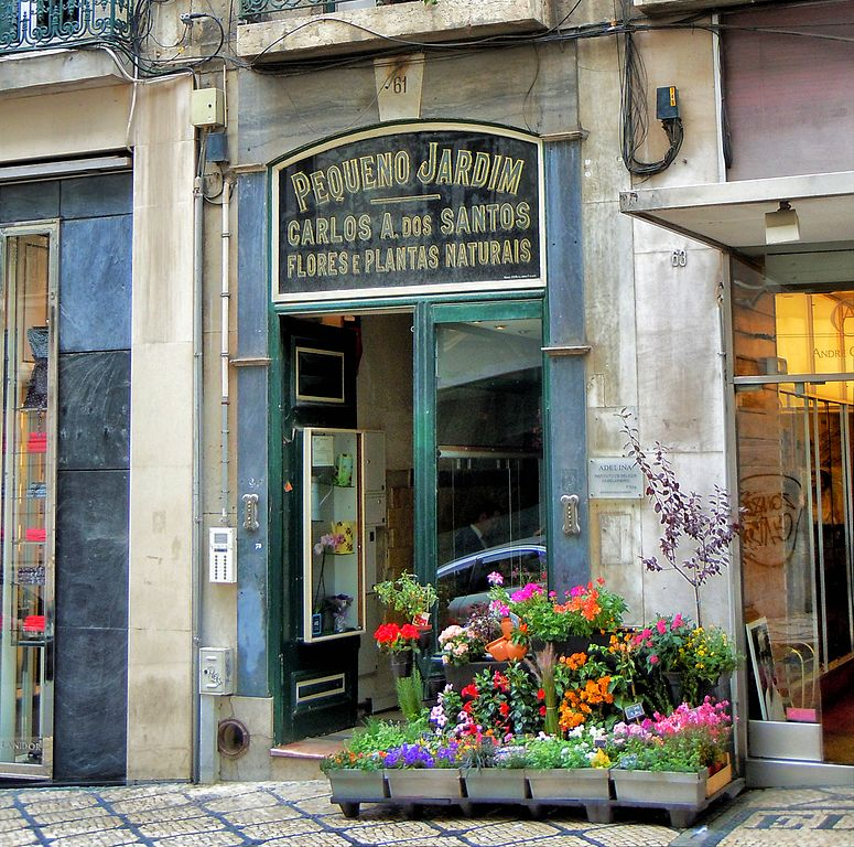 Fleuriste du quartier de Chiado à Lisbonne. Photo de BineHerzog
