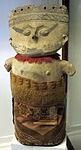 Perù, chancay, idolo vestito in terracotta, XII-XV sec.JPG