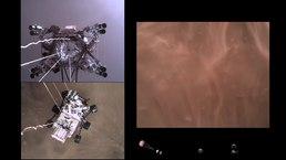 Datei: Perseverance Rovers Abstieg und Touchdown auf dem Mars Onboard Camera Views .webm