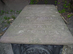 Peter Faneuil - Peter Faneuil's tomb in Granary Burying Ground