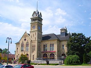 Petrolia, Ontario - Victoria Hall, housing Petrolia's municipal offices and a theatre, was built in 1889