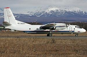 Aeroflot Flight 8381 - Image: Petropavlovsk Kamchatsky Air Enterprise Antonov An 26B 100