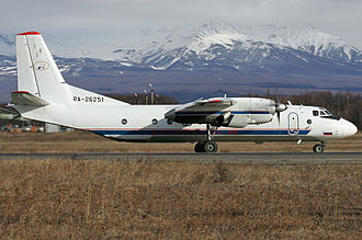 Aeroflot Flight 8381 - Image: Petropavlovsk Kamchatsky Air Enterprise Antonov An 26B 100