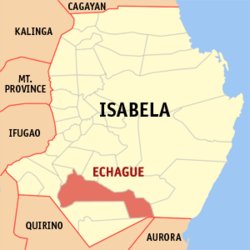 Map of Isabela showing the location of Echague