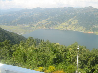 Phewa lake in pokhara and beautiful landscape.JPG
