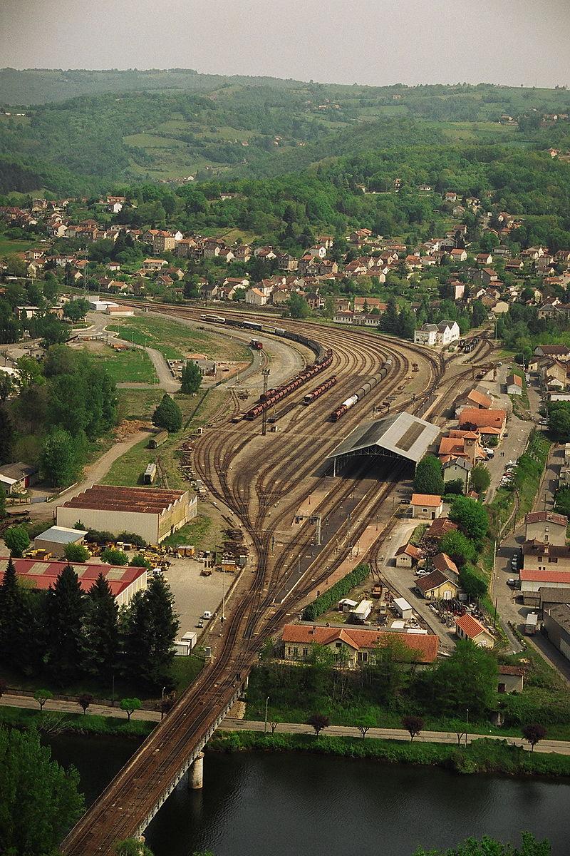 Panorama de la ville autour de la gare
