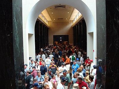 Gallery during 2007 HOF induction weekend