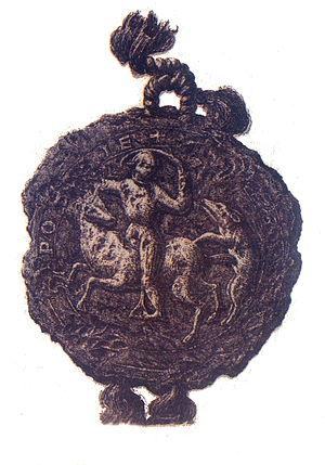 """Leszek the White - Seal of Leszek Biały (Leszek I, """"the White""""), Back side."""
