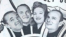 The Pied Pipers in a 1945 advertisement