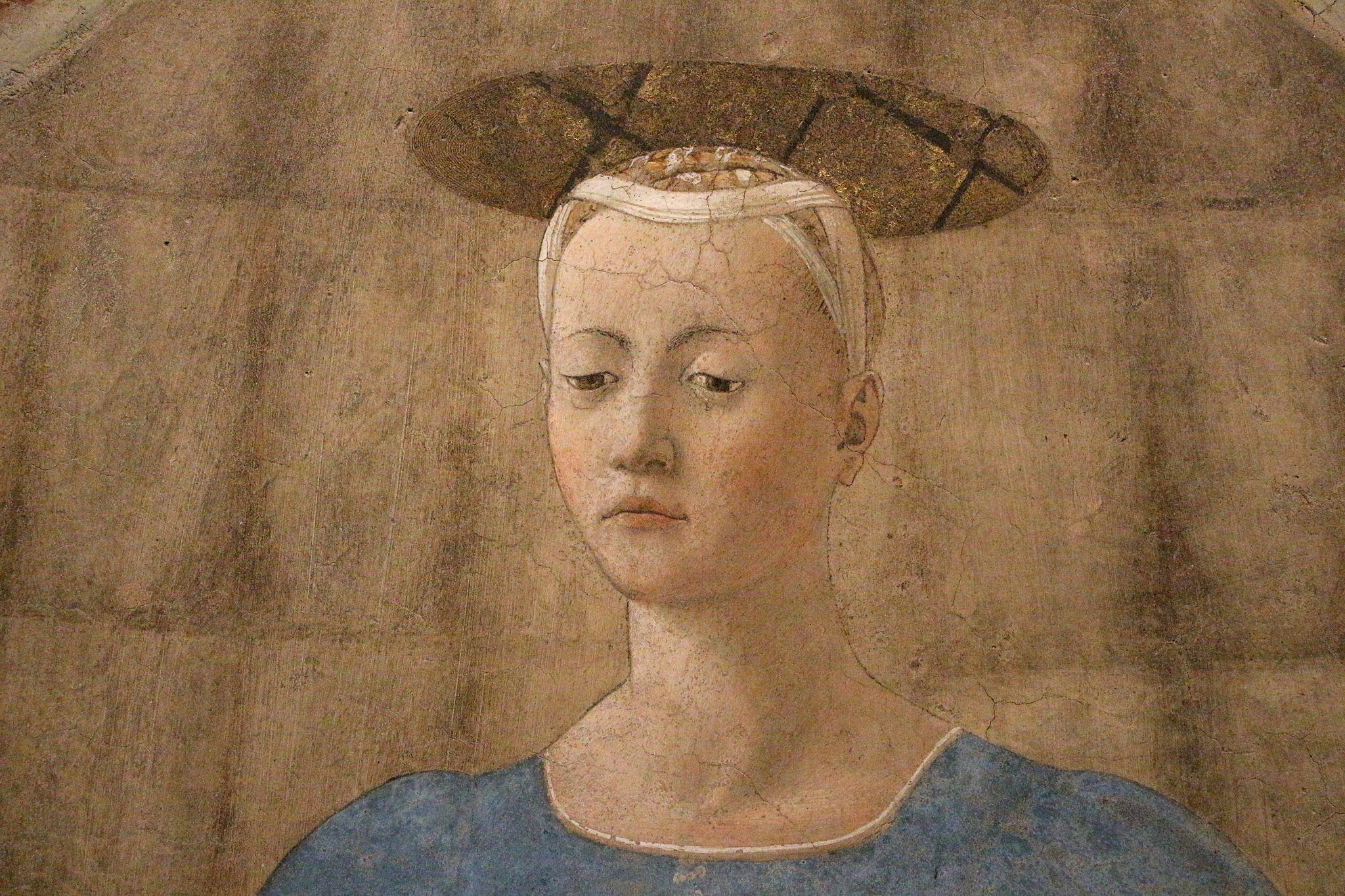 Piero della francesca, Madonna del Parto, 1455 ca. 11