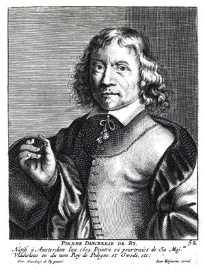 Peter Danckerts de Rij - Portrait of Pieter Danckerts de Ry in Cornelis de Bie's Het Gulden Cabinet.