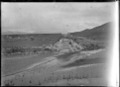 Piers under construction for a bridge across the Leader River, Cheviot County. ATLIB 286187.png