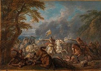 Pieter van Bloemen - Cavalry battle