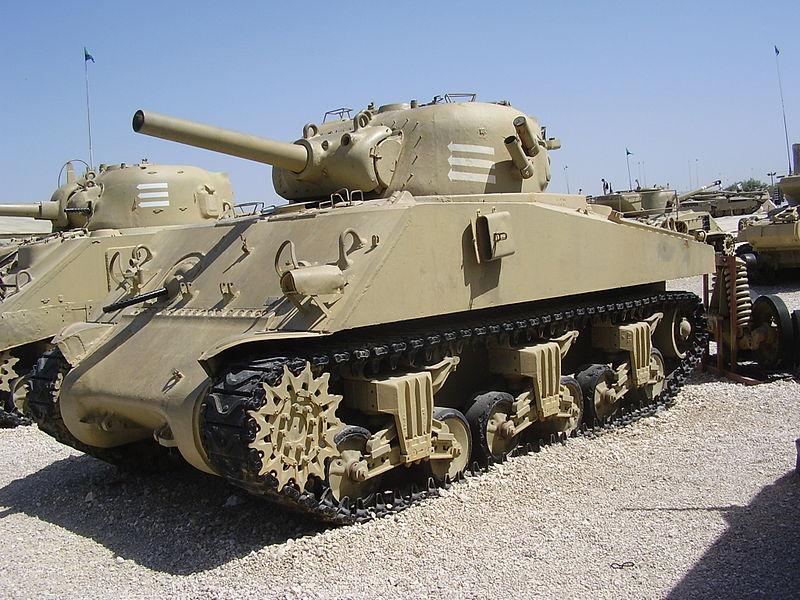 טנק שרמן במוזיאון יד לשריון