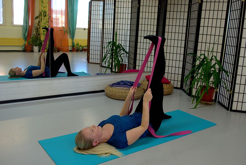 How to use a yoga strap