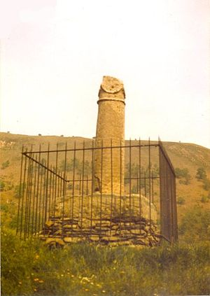 Wales in the Roman era - Remains of the Pillar of Eliseg near the town of Llangollen, Wales, erected c. 855. It lists Magnus Maximus as an ancestor of a medieval Welsh king.