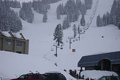 Pine Marten Express chairlift in 2009