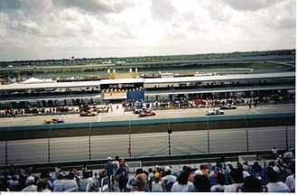 2001 NASCAR Craftsman Truck Series - Pit Stops during the 2001 Florida Dodge Dealers 400k at the Homestead-Miami Speedway.
