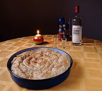 Serbian cuisine - Rolled pie