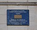 Placa a la casa on va nàixer Federico Borrell García, Taino, a Benilloba.JPG