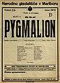 Plakat za predstavo Pygmalion v Narodnem gledališču v Mariboru 8. novembra 1927.jpg