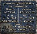 Plaque Ici Habitaient Henri Neyrat & Georges Rousselot Cité Fiac - Romainville (FR93) - 2021-04-24 - 1.jpg