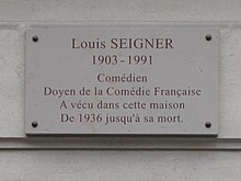Description de l'image  Plaque_Louis_Seigner.jpg.