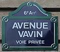 Plaque avenue Vavin Paris 3.jpg