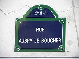 Image illustrative de l'article Rue Aubry-le-Boucher