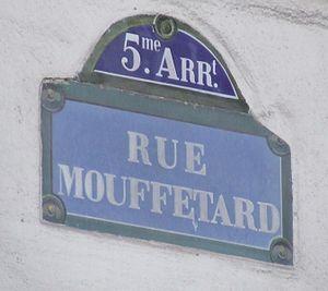 Plaque rue mouffetard
