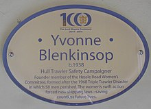 Plaque to Yvonne Blenkinsop (geograph 4502319).jpg