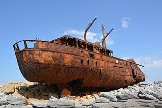 Inisheer - The PMV Plassy shipwreck