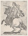 Plate 1- Emperor Julius Caesar on Horseback, from 'The First Twelve Roman Caesars' MET DP857125.jpg
