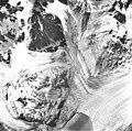 Plateau Glacier, tidewater glacier terminus and hanging glaciers, August 22, 1965 (GLACIERS 5776).jpg