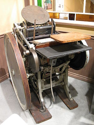 A motorized Platen Printing press model which ...