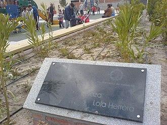 Lola Herrera - Plaza Lola Herrera en el Barrio de Las Delicias, Valladolid.