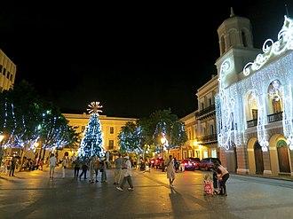 Plaza de Armas, San Juan - Plaza de Armas, San Juan during Christmas