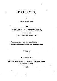 Poems, in Two Volumes cover