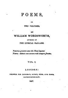 The Sparrows Nest lyric poem by William Wordsworth