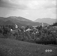 Pogled na Gorenje Ravne pri Cerknem 1954.jpg
