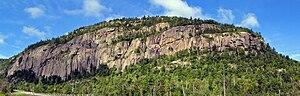 Poke-O-Moonshine Mountain - Image: Poke O Moonshine cliffs panorama
