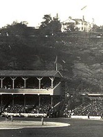 Morris–Jumel Mansion - The mansion overlooking the Polo Grounds, 1905.