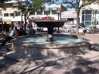 Nelson Algren - The Nelson Algren Memorial fountain