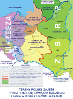 Polish areas annexed by Nazi Germany