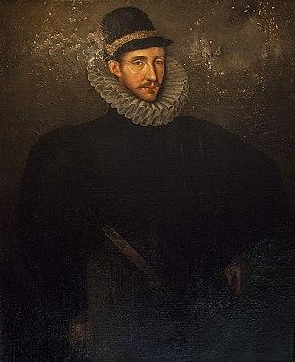 Fulke Greville, 1st Baron Brooke - Portrait by Edmund Lodge
