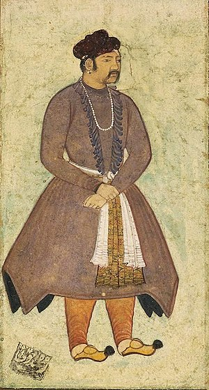 Akbar - Late 16th century portrait of Akbar by Manohar