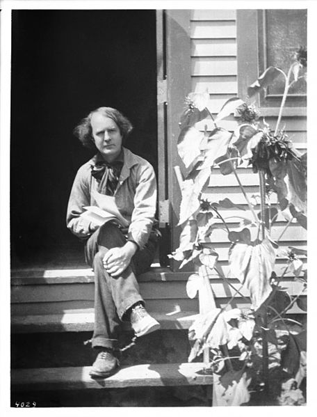 Portrait of Elbert Hubbard outside his workshop, ca.1900. HOME - From Things We Miss When Traveling